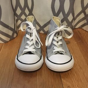 Grey converse all star high tops- toddler 9